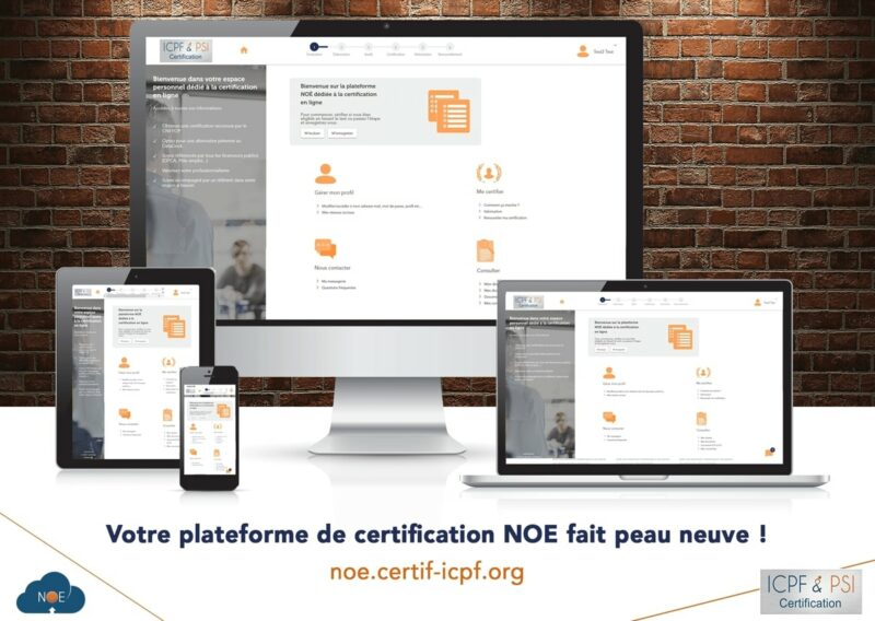 Interface plateforme Noé